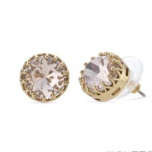 Stella & Dot Nancy Rose Gold & Pink Stud Earrings